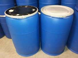 $ 130.000 caneca plastica 55 galones abierta tapa aro americana