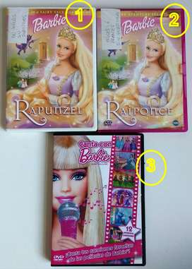 ORIGINALES DVDs de Barbie - cdjess