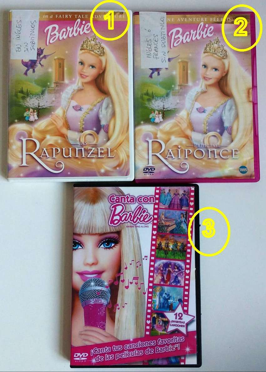 ORIGINALES DVDs de Barbie - cdjess 0