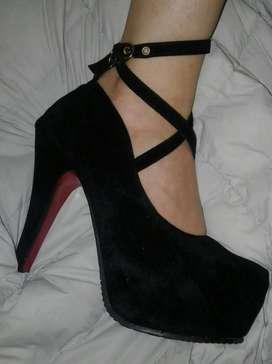Zapatos Dama Gamuza