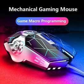 Mouse Gamer alambrico retroiluminado 6 botones optico