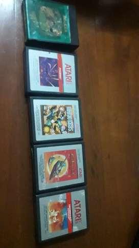5 juegos Atari funcionando escucho ofertas x todos juntos