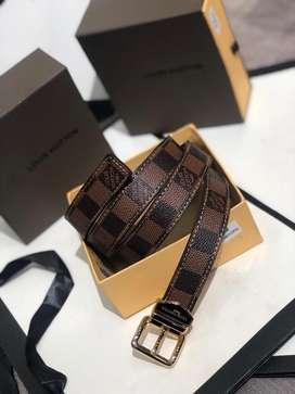 Correas Louis Vuitton Cuero Cafe Claro Oscuro Cuadros Envio Gratis