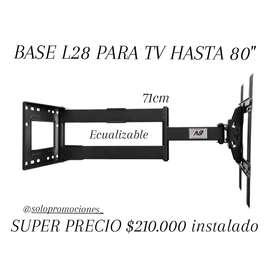 """Base nb L28 para tv hasta 80"""""""