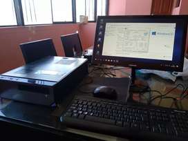 Computadora CPU core i5 i3 monitores