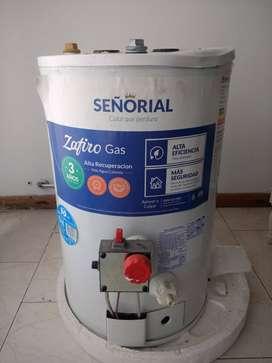 Termotanque a gas marca Señorial, 30 litros
