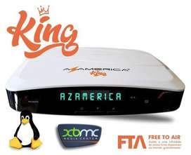 EQUIPO FTA AZAMERICA KING HD WIFI TWIN LINUX
