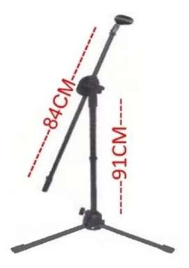 Soporte base trípode para micrófono ref WG-901