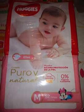 Pañales Huggies natural care de nena