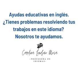 Ayudas educativas en inglés