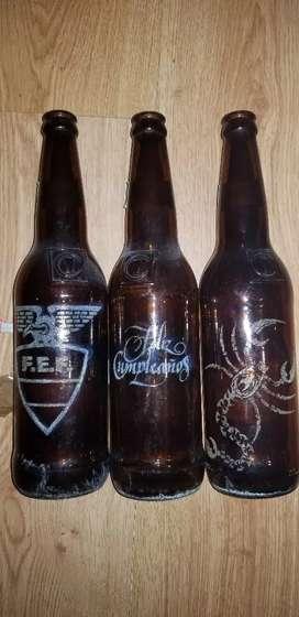 Decoramos termos y botellas de vidrio para ocaciones especiales