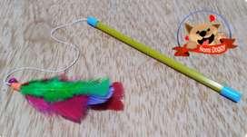 Juguete de caña de pescar o varita para gatos