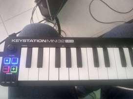 ¡VENTA A BUEN PRECIO! controlador midi M audio keystation mini 32 mk3