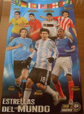 Poster Messi y Estrellas Mundial 2010 , Navarrete