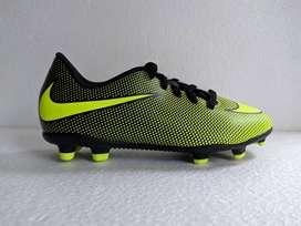 Guayos Nike Para Niño Verde Negro Original Tache Alto Nuevo