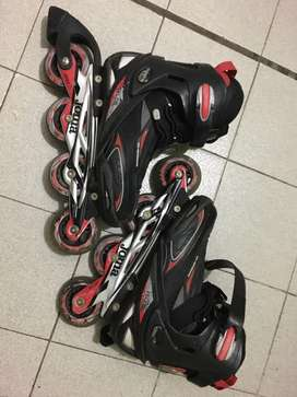 Rollers joma tienen poco uso, estan rayados por caidas, los rulemanes como nuevos