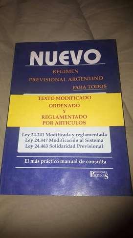 Nuevo Regimen previsional argentino - texto modificado, ordenado y reglamentado por artículos