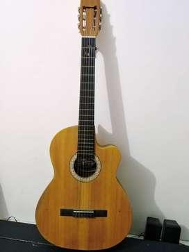 Vendo guitarra acústica con excelente sonido, ecológica.
