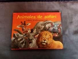 Animales de safari- libro tridimensional