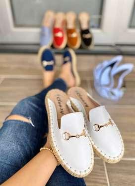Zapatos suecos de dama en yute artesanal