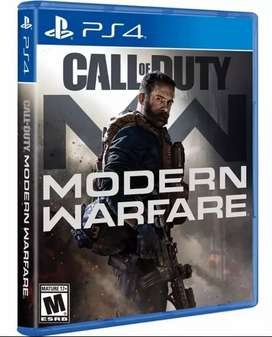 Juego ps4 call of duty modern warfare 2019 sellado nuevo