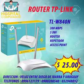 Router TP-LINK dos antenas TL-WR840