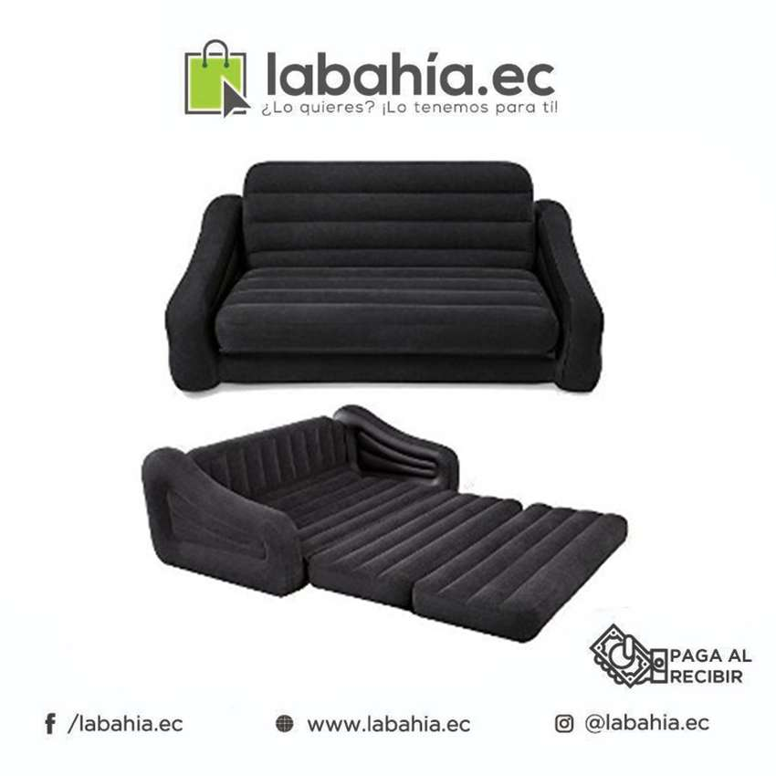 Sofá cama inflable intex 1 plaza 0