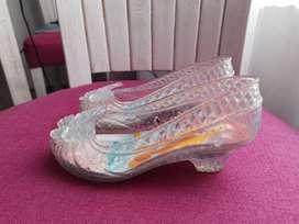 zapatilla de cristal niña con luces talla24