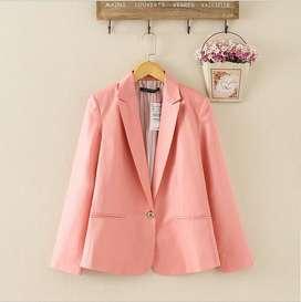 Blazer mujer talla S color palo de rosa