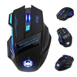 Mouse Gamer Inalámbrico 7 Botones Zelotes F14 Retroiluminado