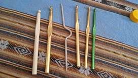 Vendo agujas de crochet y dos agujas