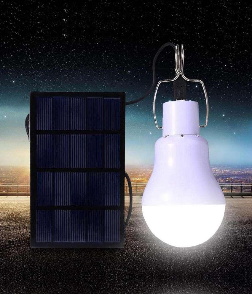 Bombillos Led 15w Panel Solar 5h 130 LUM Domicilio