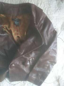 chaqueta cuero mujer vintage