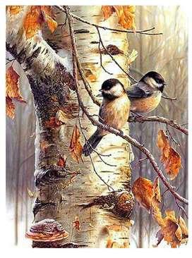 Kit Diamond Painting Sparrow Bird