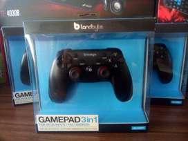 Mando Gamepad 3 En 1 Landbyte Lb-10597 Vibración 12 Botones