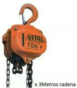 Diferencial vital de 1 tonelada con 3 de cadena