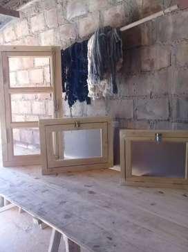 Ventanas de madera p/baño