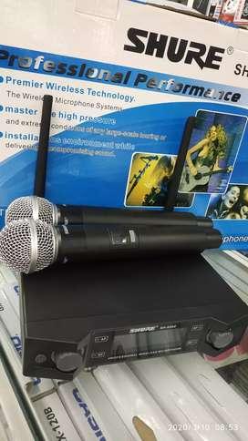 Micrófono inalambrico doble shure