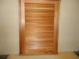 Nuevo Vendo ventana postigon en madera con Celosías