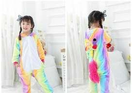 pijama térmica unicornio multicolor todas las tallas