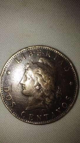 2 centavos de patacon año 1.893.