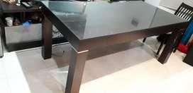 Mesa melamina c vidrio