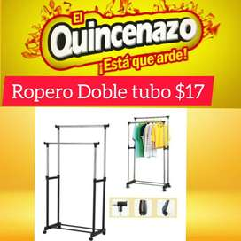 ROPERO DOBLE TUBO METALICO