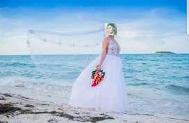 Hermoso y exclusivo vestido de novia