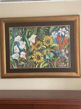 Cuadro precioso de flores precio de remate