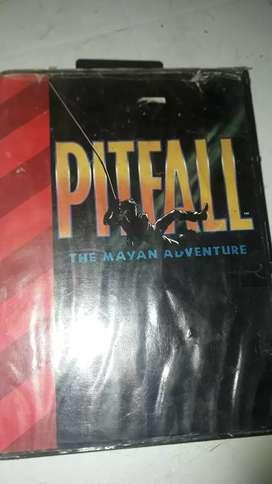 Cartucho de sega PITFALL usado