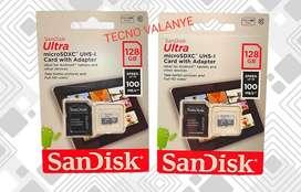 MEMORIA MICRO SD CLASE 10 SANDISK ORIGINAL 128 GB