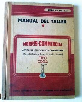 Antiguo manual de taller Morris Commercial Motor a Ignicion