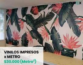 Vinilo impreso decorativo full color x Metro Cuadrado