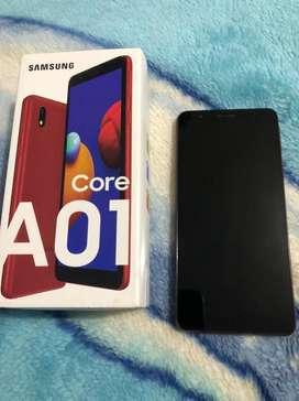 Samsung galaxy A01 entrego caja y cargador